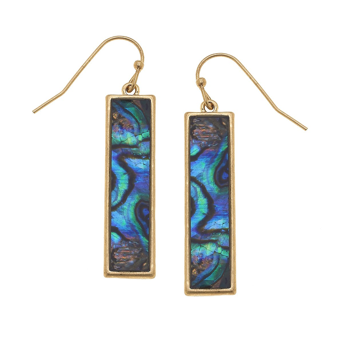 Aerin Bar Earrings In Abalone Mother Of Pearl Shell