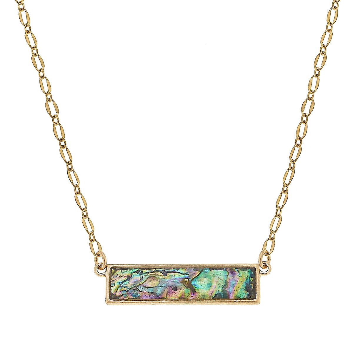Aerin Bar Necklace In Abalone Mother Of Pearl Shell
