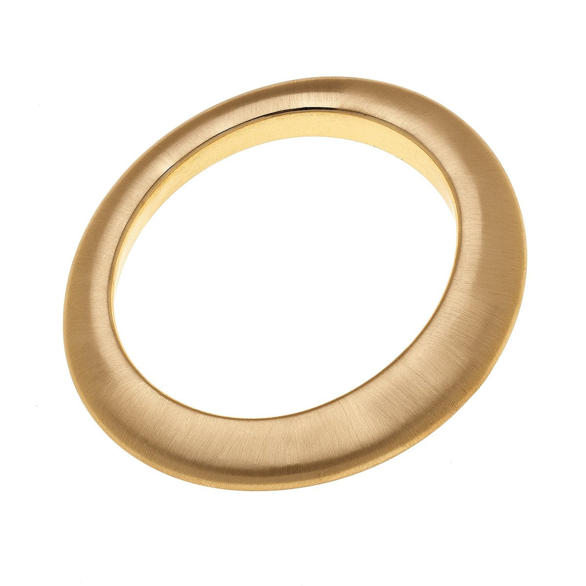 Sasha Statement Bangle In Satin Gold
