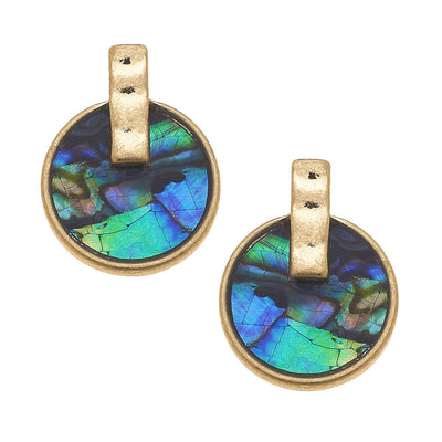 Siena Stud Earrings In Abalone Mother Of Pearl Shell
