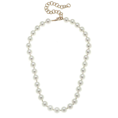 Chloe Beaded Pearl Necklace in Ivory