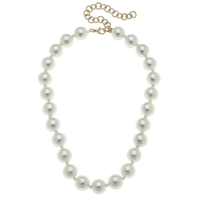 Eleanor Beaded Pearl Necklace in Ivory