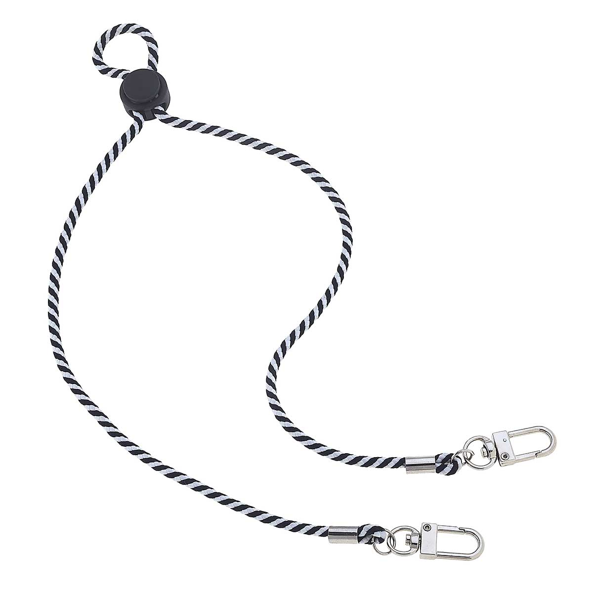 Ethan Men's Cord Mask Lanyard in Black and White