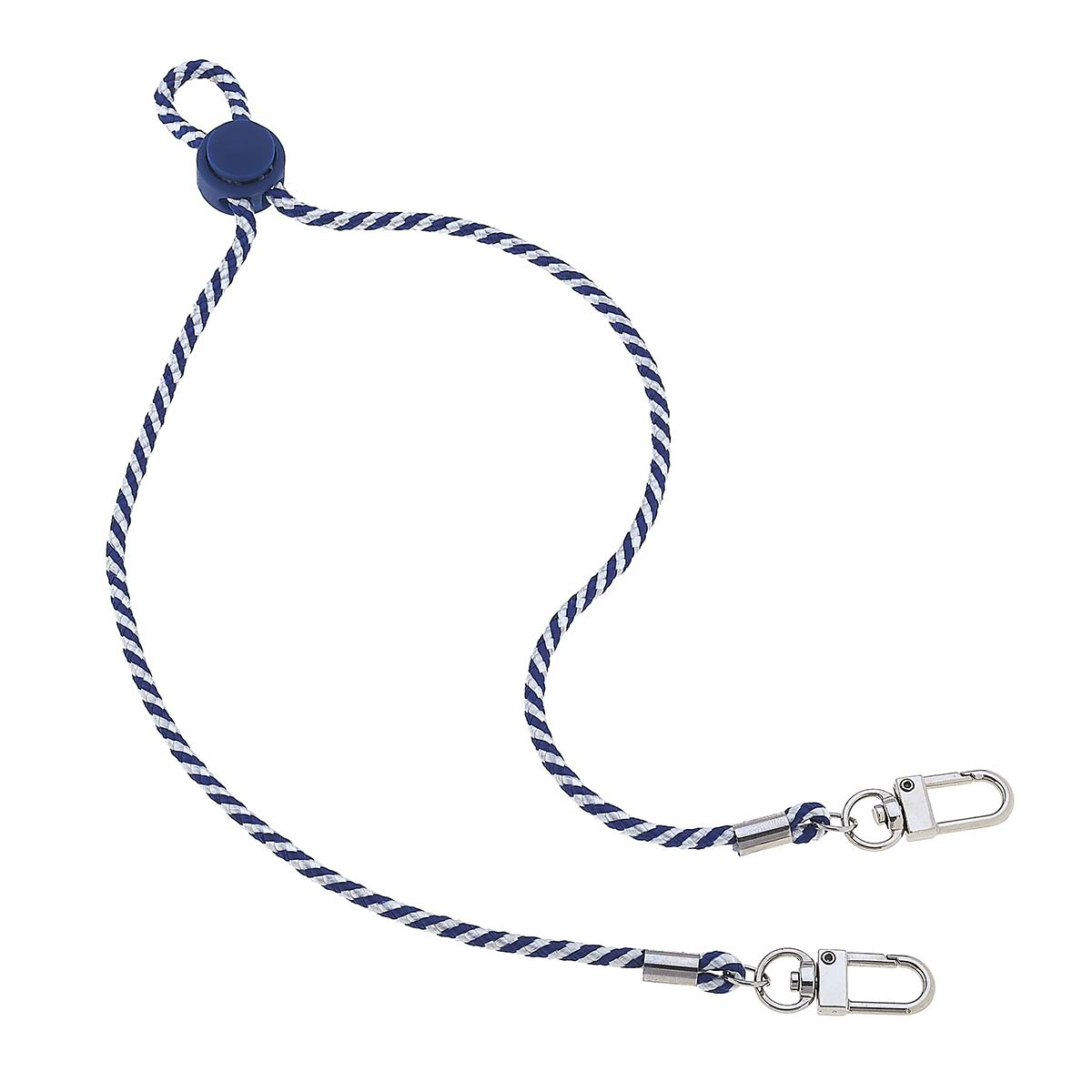Ethan Men's Cord Mask Lanyard in Navy and White