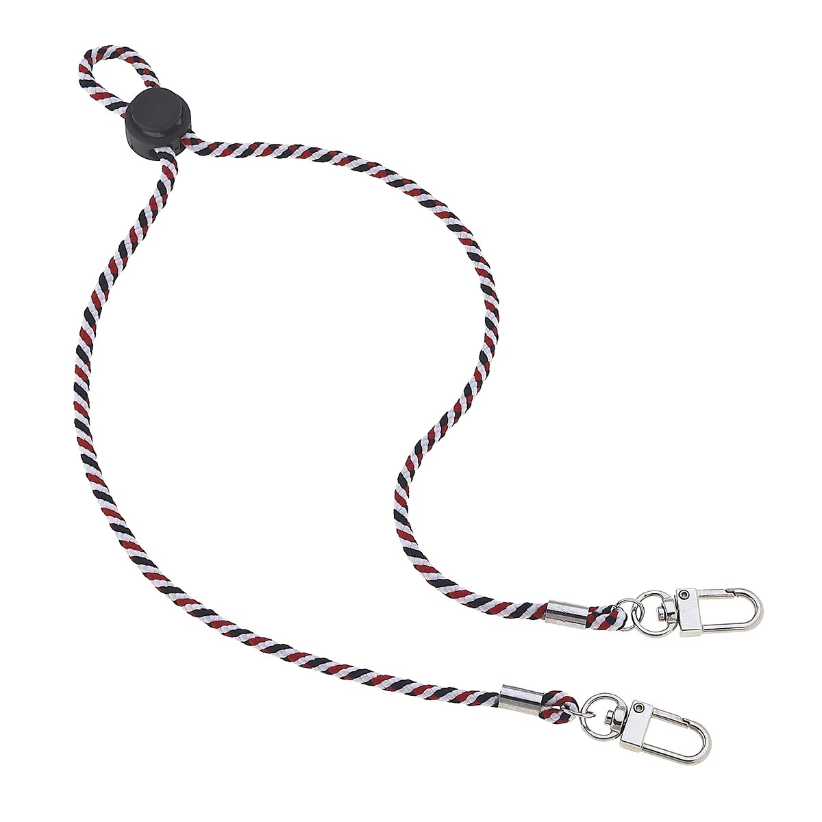 Ethan Men's Cord Mask Lanyard in Red and Black