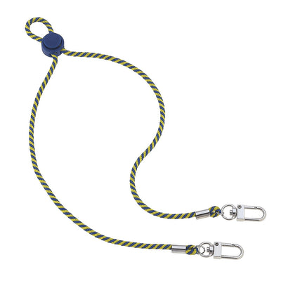 Ethan Men's Cord Mask Lanyard in Yellow and Blue