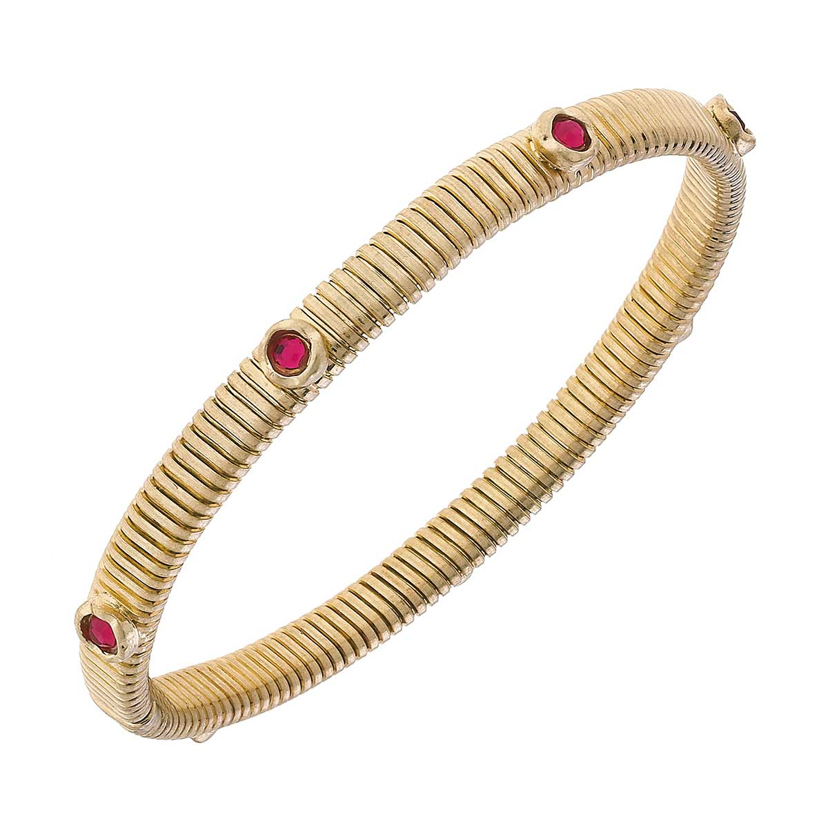 Florence Skinny Watch Band Bangle in Fuchsia
