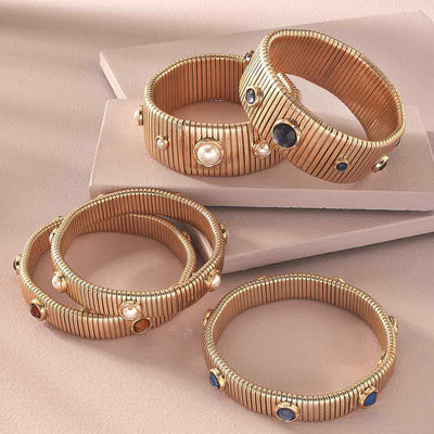 Florence Watch Band Bangle in Brown Topaz