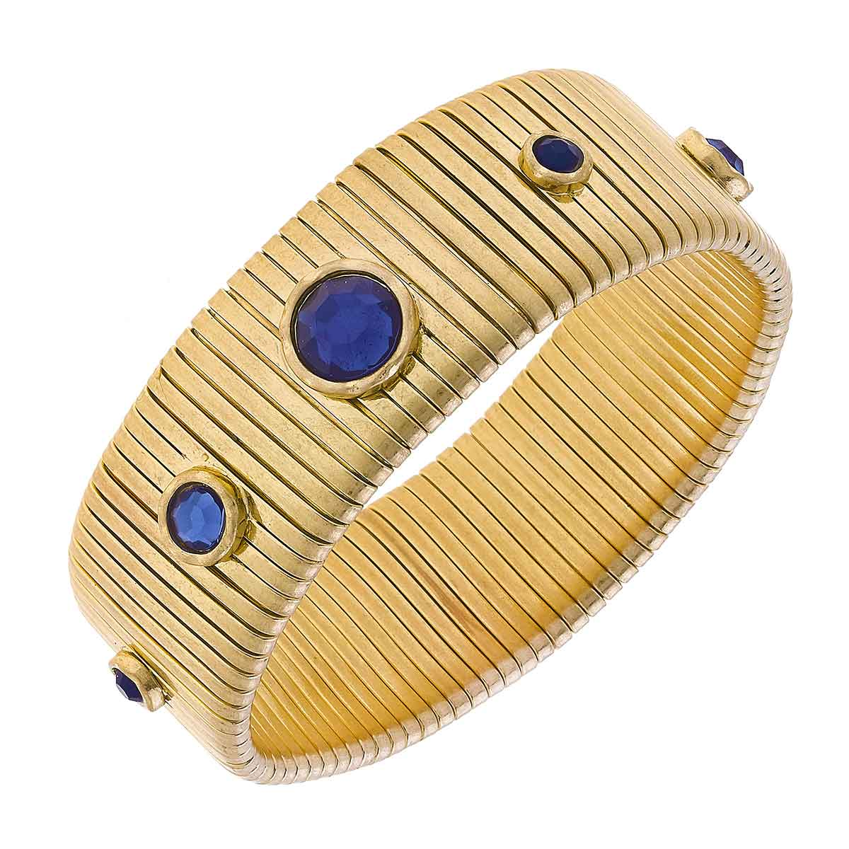 Florence Statement Watch Band Bangle in Blue Tonal