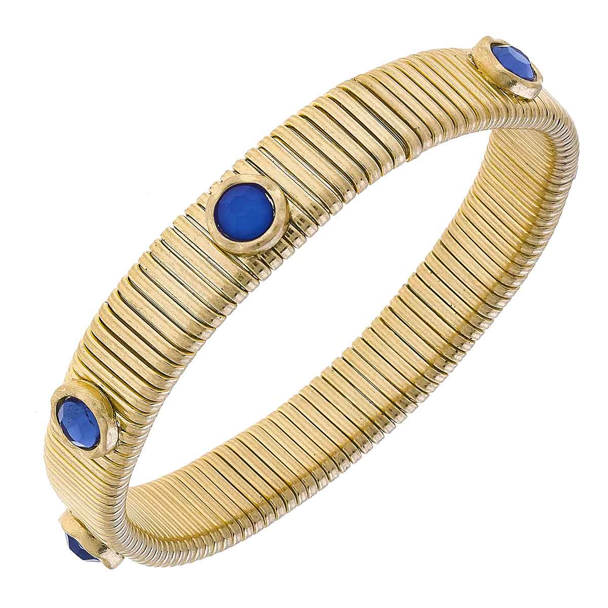 Florence Watch Band Bangle in Blue Tonal