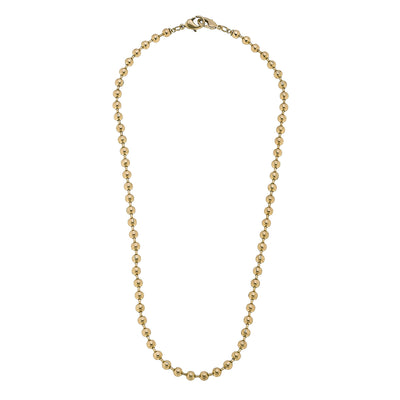 Soleil Ball Chain Mask Necklace in Worn Gold - 20""