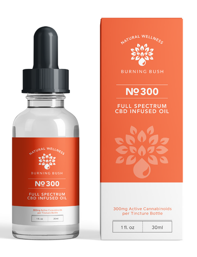 Full Spectrum 300 CBD Oil, Premium Hemp Extract