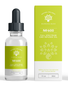 Full Spectrum 600 CBD Oil, Premium Hemp Extract