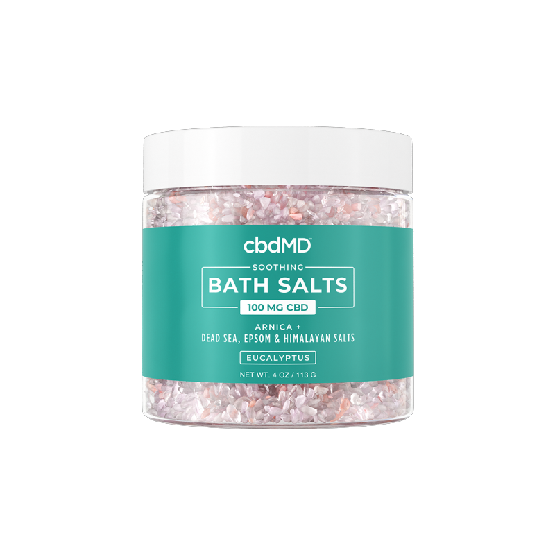 CBD Bath Salts - Eucalyptus - 100mg - 4 oz