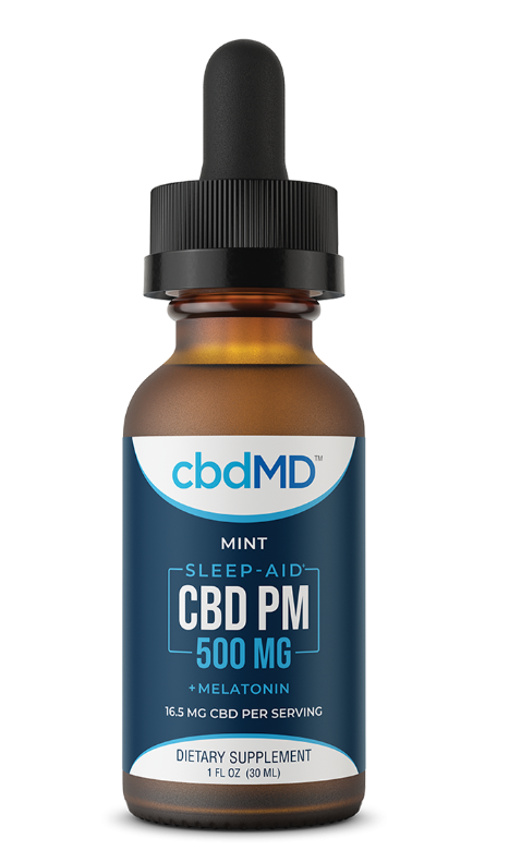 CBD PM for Sleep - Mint - 500 mg - 30 mL