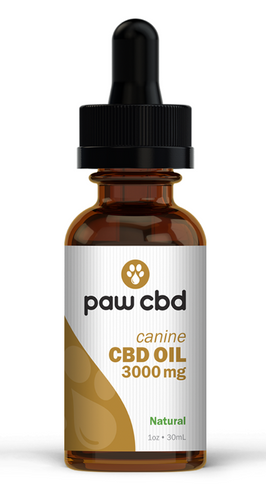 Pet CBD Oil Tincture for Dogs - Natural - 3000 mg - 30 mL