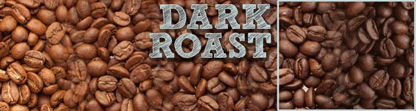 A image depicting the scale roasted coffee profiles, with a box highlighting the Dark Roast range of the spectrum.