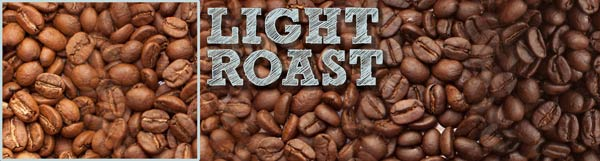 A image depicting the scale roasted coffee profiles, with a box highlighting the Light Roast range of the spectrum.