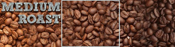 A image depicting the scale roasted coffee profiles, with a box highlighting the Medium Roast range of the spectrum.