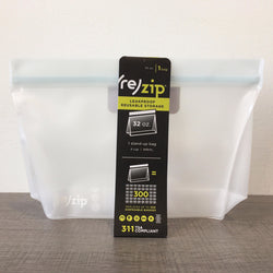 ReZip Silicone Ziplock Bag | One 32oz Stand-Up Bag