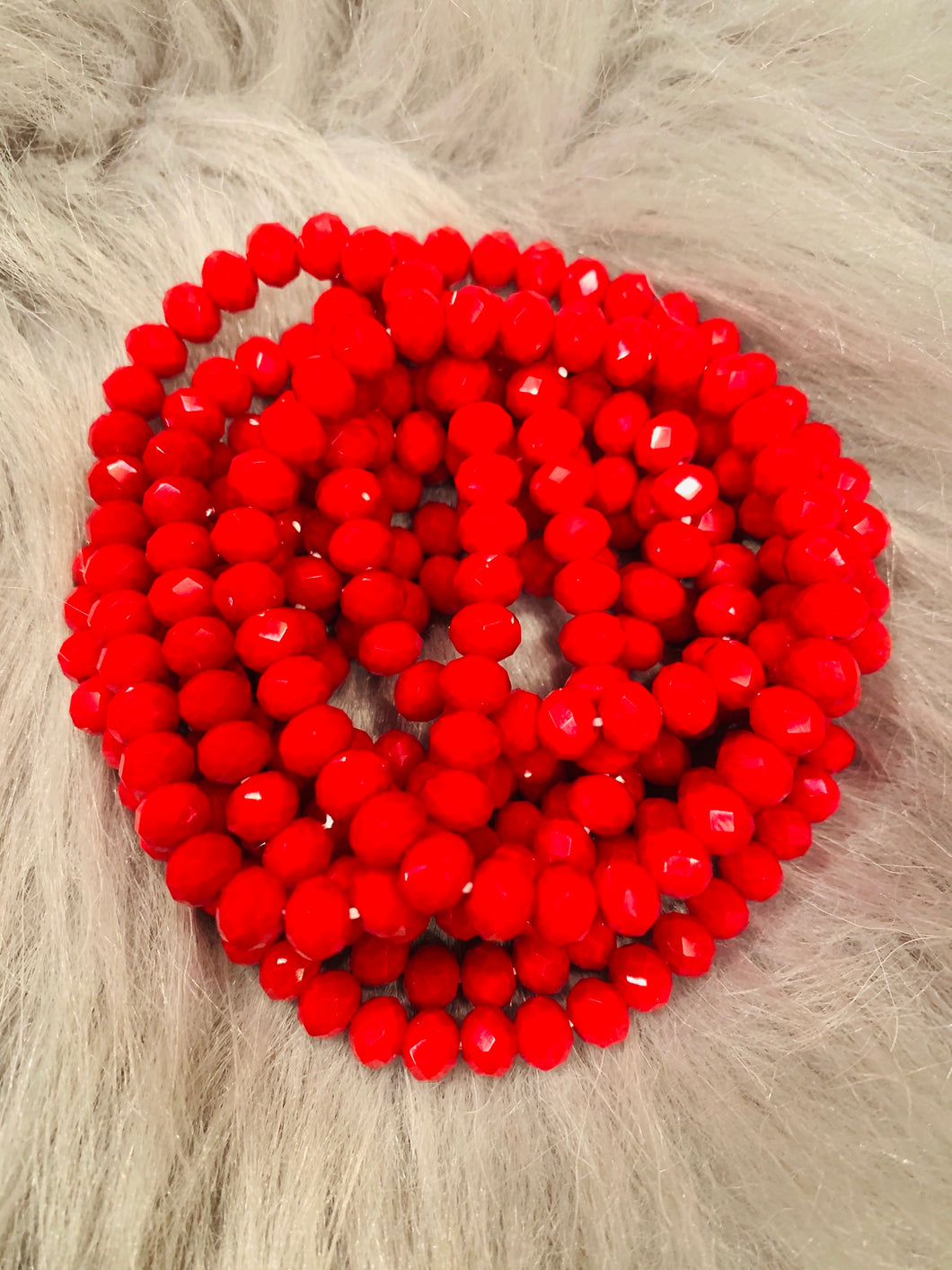 Red Stretch Bracelet