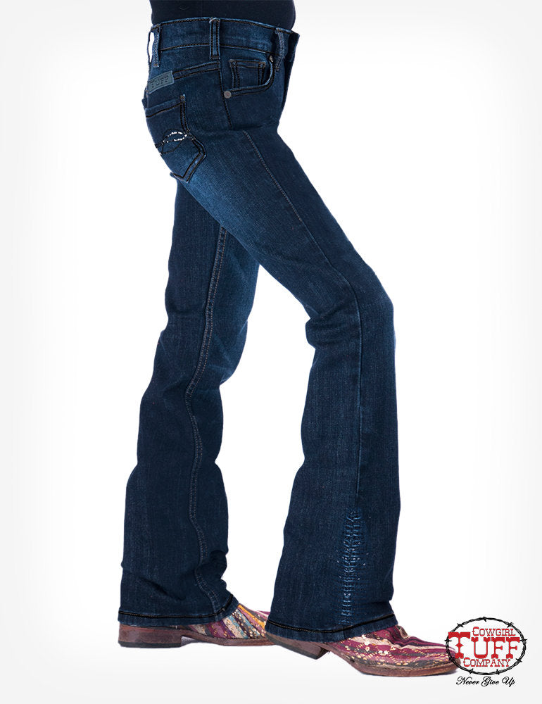 Cowgirl Tuff Girls Shimmer Blue Jeans