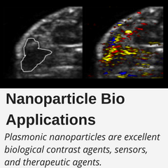 Plasmonic nanoparticles are excellent biological contrast agents, sensors, and therapeutic agents