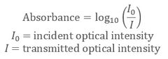 How to calculate Optical Absorbance (Formula for Absorbance)