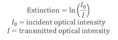 How to calculate optical extinction (Formula for extinction)