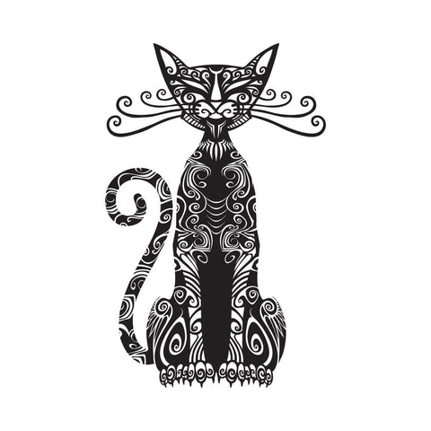 Tatouages Temporaires Cattoo Design - The Cattoo Sitting Tribal Cat