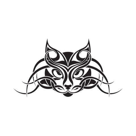 Tatouages Temporaires Cattoo Design - The Cattoo Tribal Cat Face