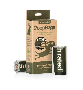 Poopbags compostables 60 sacs