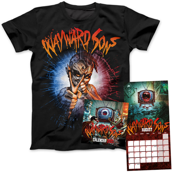 Wayward Sons Calendar 2021 + Deadwood Catapult Black T-Shirt
