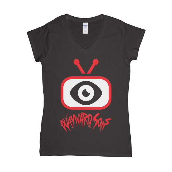 TV Logo Womens V-Neck T-Shirt
