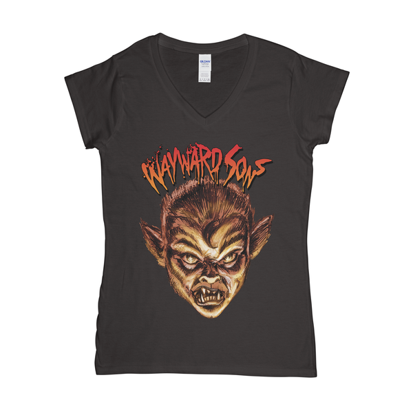 Wolfboy Womens V-Neck T-Shirt
