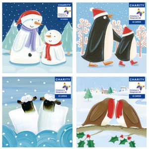 8x Recycled Children's Hospice UK Christmas Cards - Various Designs