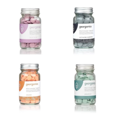 Georganics Organic Natural Mouthwash Tablets - Various Flavours