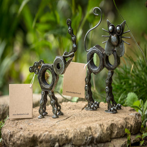 Shared Earth Upcycled Bike Chain Animal Ornaments
