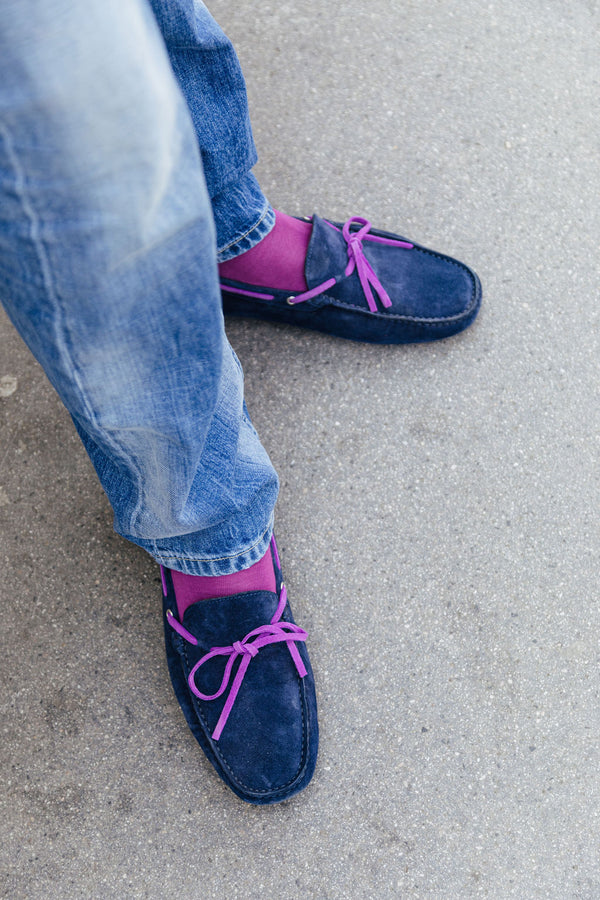 Moccasins Navy-Deep Purple