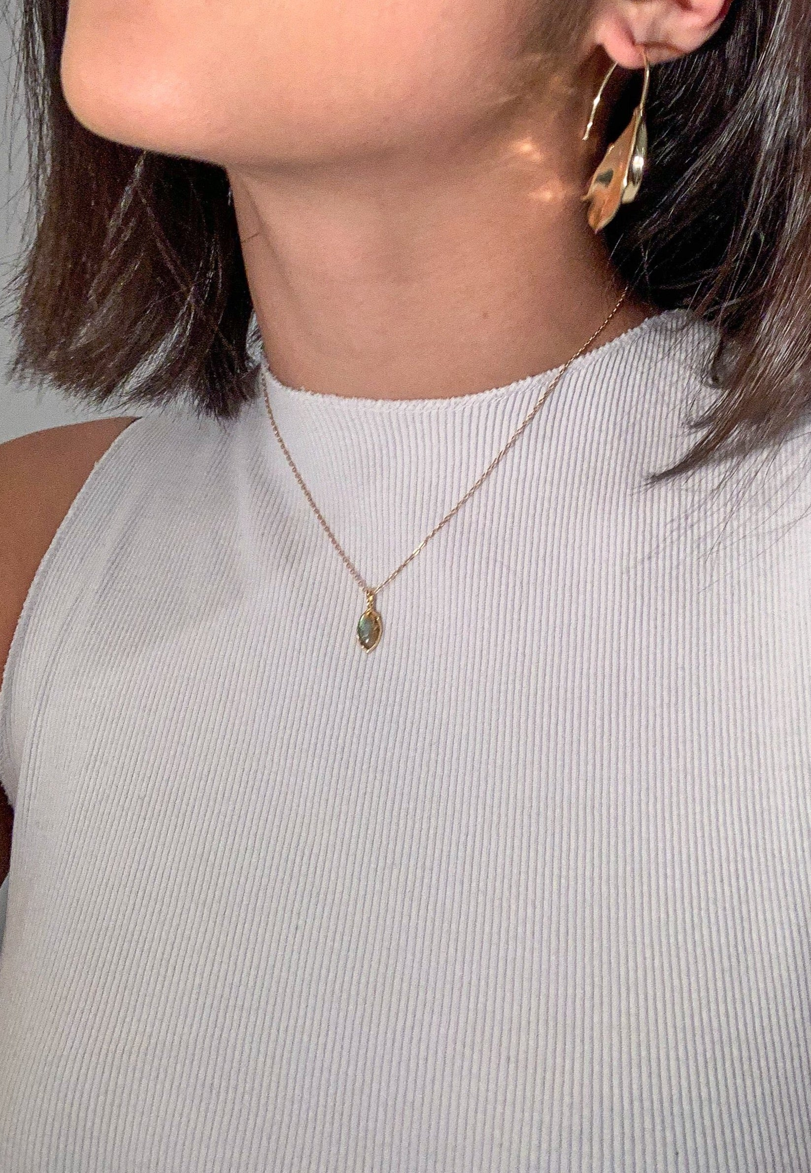 Felicity Labradorite Gem Necklace