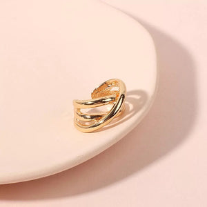 Multilayer Gold Plated Ring