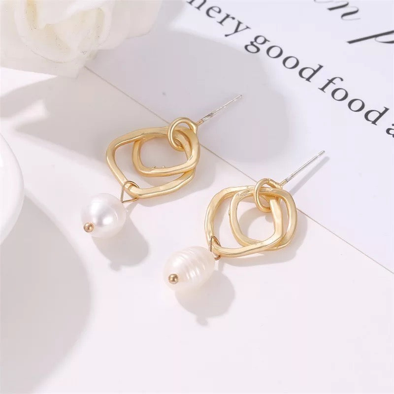 Irregular Pearl Earrings