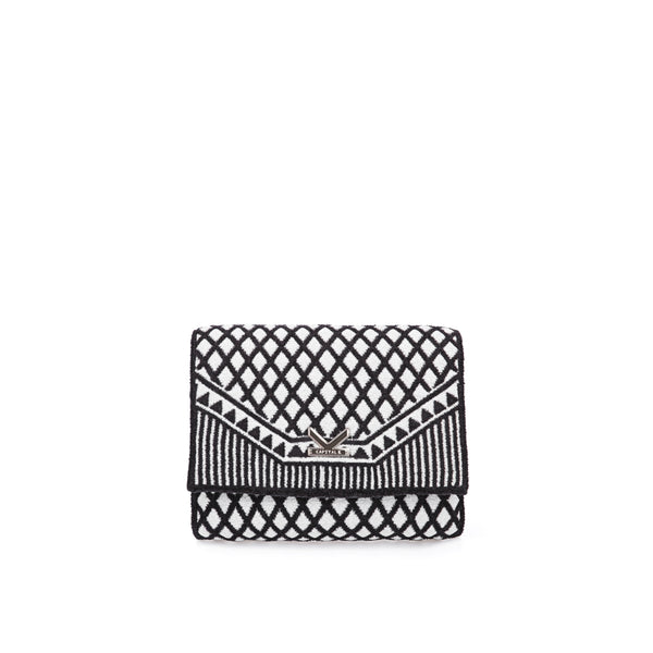 Crackles Series-Embellish Diamond Crossbody Bag Silver