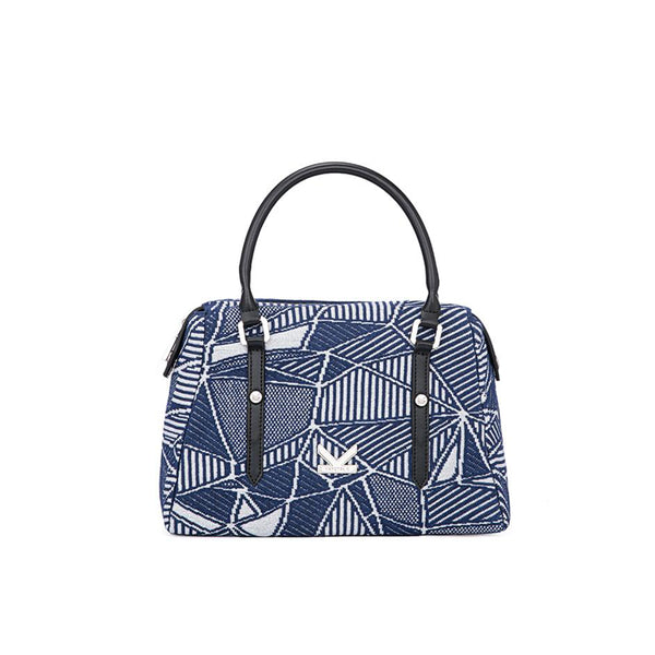 Crackles Series-Crackles Shoulder Bag Sky Dark Blue
