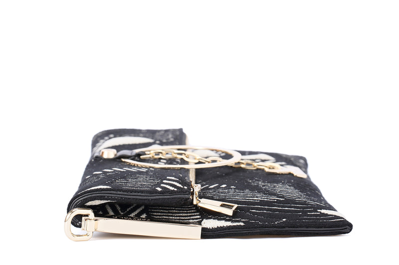 Crackles Clutch Bag Champagne