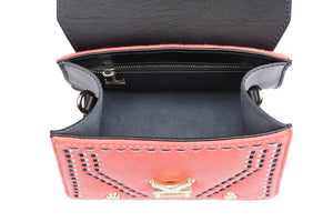 Three Angles Series-Crossbody Bag Orange Green