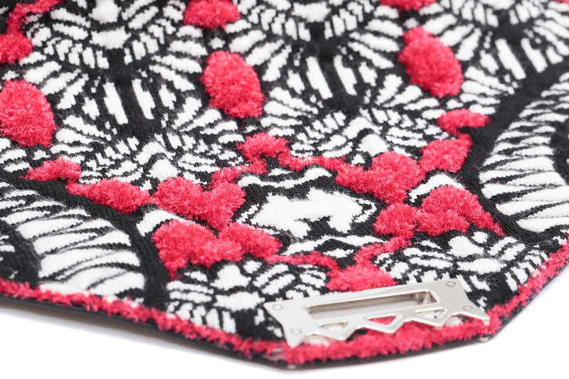 Secret Garden Fluffy Floral Crossbody bag Red