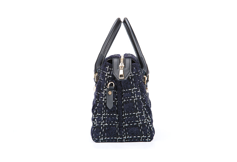 Grunge Check Crossbody Bag Royal Blue