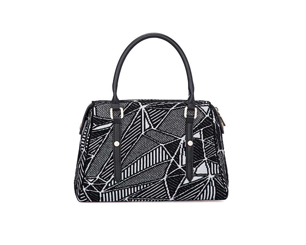 Crackles Series-Crackles Shoulder Bag Black