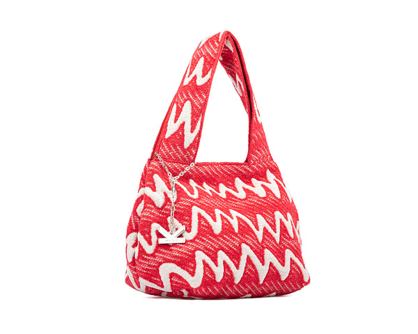 Graffiti Series - Fluffy Mini Tote Bag Red
